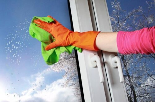 как мыть пластиковые окна - фото